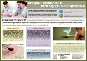 Санбюллетень Вредные привычки и репродуктивное здоровье