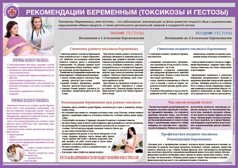 Санбюллетень.рф - Санбюллетень Рекомендации беременным (токсикозы ...