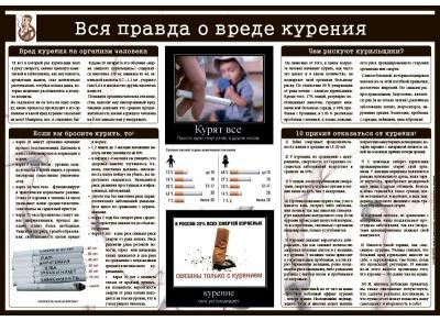 Санбюллетень Вся правда о вреде курения