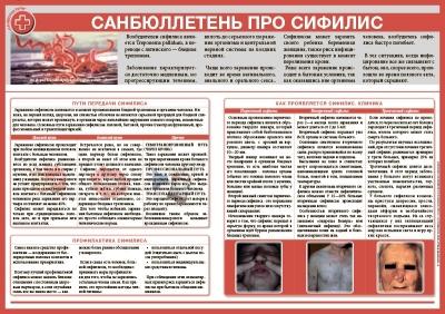 Санбюллетень Про сифилис