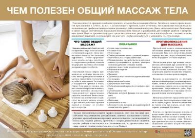 Санбюллетень Чем полезен общий массаж тела