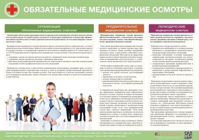 Плакат Обязательные медицинские осмотры